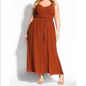 NWT City Chic Maxi Spice Overlay Dress Size 24